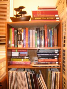 my research shelves for MIDNIGHT NEVER COME