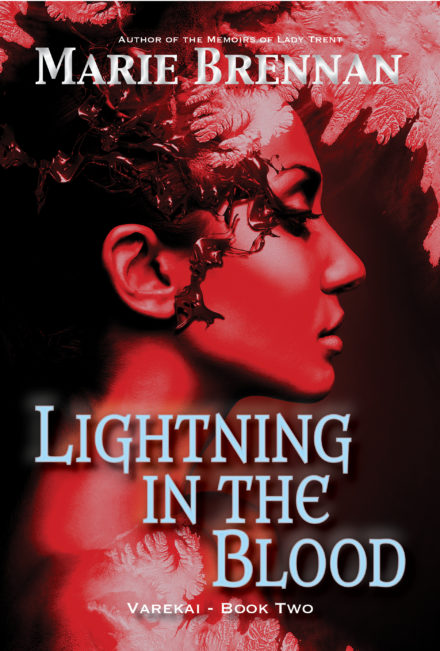 cover art for LIGHTNING IN THE BLOOD by Marie Brennan
