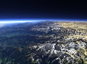 a photo of the Himalaya mountain range as seen from space