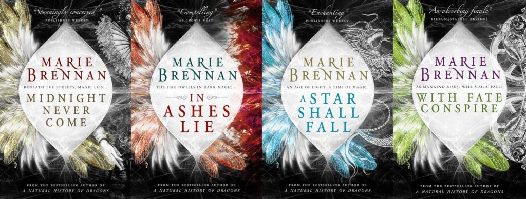 UK covers of all four Onyx Court novels