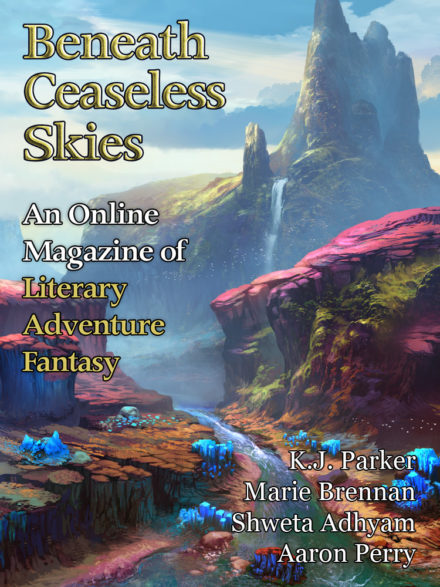 cover art for issue #287 of BENEATH CEASELESS SKIES