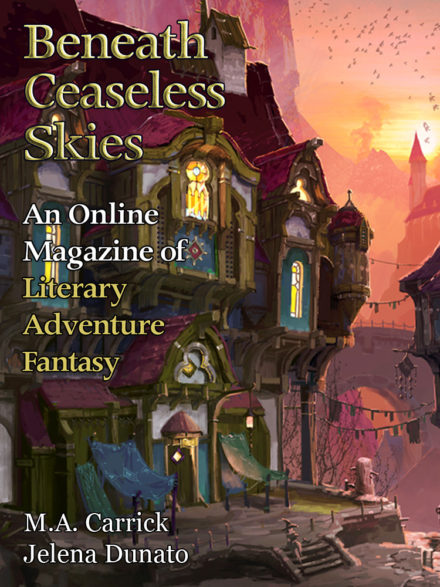 cover art for issue #320 of BENEATH CEASELESS SKIES