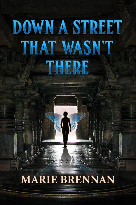 cover art for DOWN A STREET THAT WASN'T THERE by Marie Brennan
