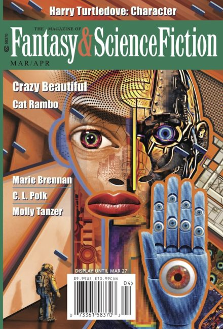 cover for the March/April 2021 issue of The Magazine of Fantasy and Science Fiction